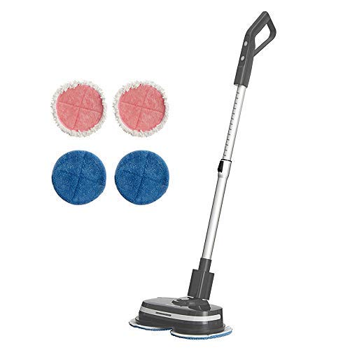 AirCraft Home PowerGlide Hard Floor Cleaner & Polisher (Grey) Scrubber and Buffer for Hard Wood, Laminate, Tiles, Natural Stone Floors