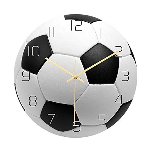 FYMH Reloj de Pared de fútbol Creativo,Reloj Colgante de...