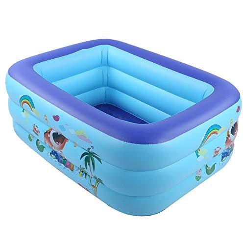 Piscina hinchable familiar, 49.2'x37.4' x18.9'Piscina de salón inflable portátil de tamaño completo para niños, niños, adultos, piscina de fácil instalación para jardín, patio trasero, fiesta