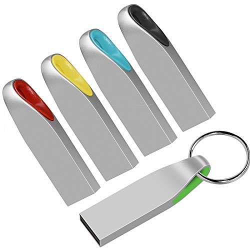 EASTBULL - Set di 5 chiavette USB 2.0 da 2 GB, a forma di U