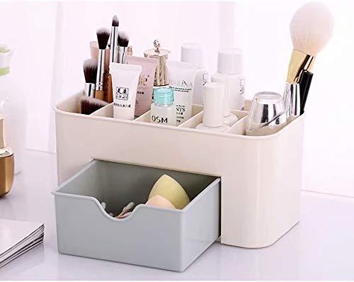 LINSUNG espace d'économie maquillage de bureau Bo?te de supports cosmétiques de tiroir de stockage Blue 22 * 11 * 10.5cm