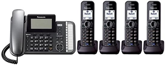 Panasonic KX-TG9582B + 2 KX-TGA950B Corded/Cordless Combination Telephone 2-Line DECT 6.0 System