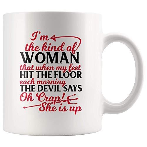 """Funny Inspirational Coffee - Taza de café para mujer, diseño con texto en inglés """"Novelty Theme Coffee Cup"""", color blanco"""