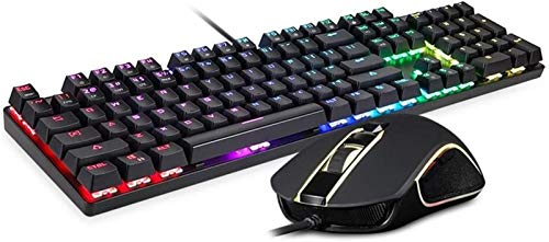 ZXCV Adjustable DPI Mouse Kit Gaming Mechanical Keyboard With 1.8m Cable For Computer Pro Gamer RGB LED Backlight