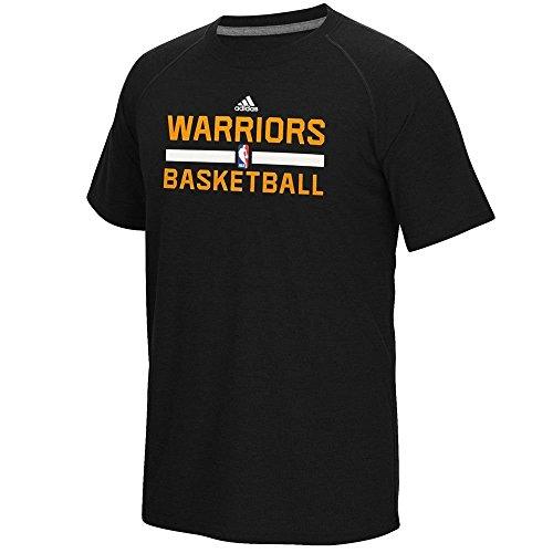 Golden State Warriors Herren Schwarz Adidas Handling ClimaLite T-Shirt, Herren damen Kinder, schwarz