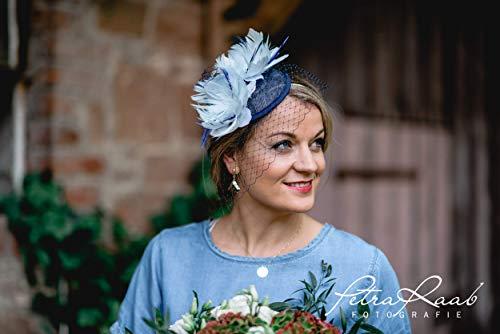 M57 Fascinator Headpieces mini Hütchen Royal hat Hut Ballhut Victoria Derby Kentucky Derby couture Millinery Hochzeit