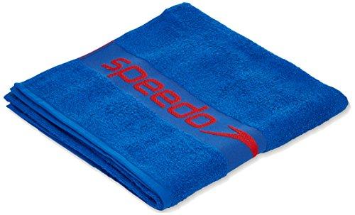 Speedo Border Towel Toalla, Unisex Adulto, Azul neón/Rojo