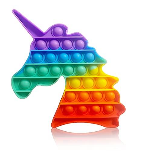 Stiftkap by Amazon - Pop It! - Einhorn - Regenbogen Bunt - Rainbow Unicorn - Push Pop Bubble Sensory Fidget Toy Spielzeug