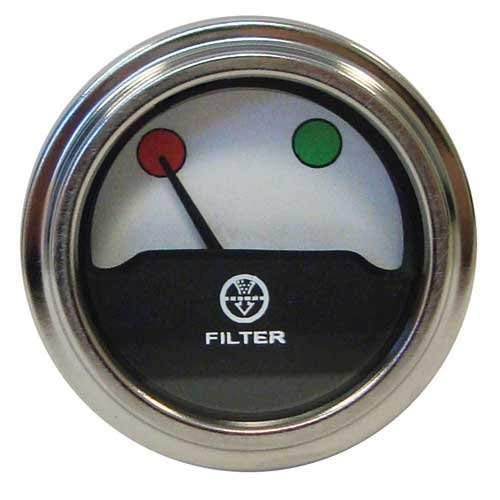 Air Cleaner Filter Gauge for IH International 766 966 1066, 1466, 1468, 1566, 1568, 4366, 4386, 4568, 4586, 766, 966, Hydro 100 for 533991R1 134364C1 536230R1 & 397942R91