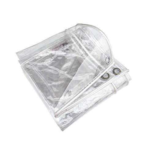 GHHZZQ Cubierta de Lona 0,3 mm de Espesor Poncho Resistente A Tirones Plástico for Interior Al Aire Libre Mueble Camión Invernadero, Personalizable (Color : Clear, Size : 1.8x2m)