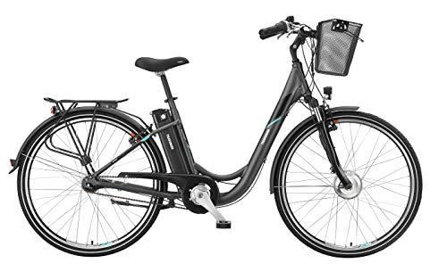 Telefunken E-Bike 28 Zoll Elektrofahrrad - Rücktritt & 7-Gang Shimano Nabenschaltung, Pedelec Citybike Alu mit Fahrradkorb, 250W und 10Ah, 36V Sitzrohrakku, RC755 Multitalent*