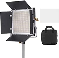 Andoer Professional LED Video Light Dimmable 660 LED Bulbs Bi-Color Light Panel 3200-5600K CRI 85+ with U Bracket &...