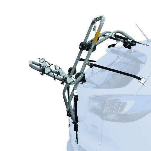 EMMEA PORTABICI Posteriore Auto 2 Bici Regolazione Cinghie Biciclette Compatibile con Mitsubishi ASX (Rails) 5P (2010-) Acciaio CARICO Max 30KG Padova Steel