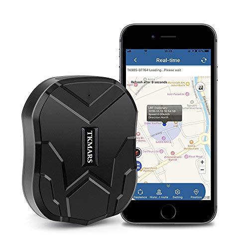 Localizador GPS para Coche, Localizador GPS en Tiempo Real Rastreador GPS,Imán Potente Antirrobo GPS Tracker para Vehículos Gestión de flotas TK905