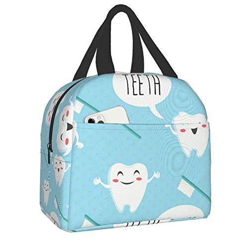 Lunchpaket Netter Zahnarzt Dentalhygieniker Tote Bag Lunchboxen Wiederverwendbare isolierte Kühltasche Wasserbeständige Thermo-Mahlzeittasche Snack-Tasche