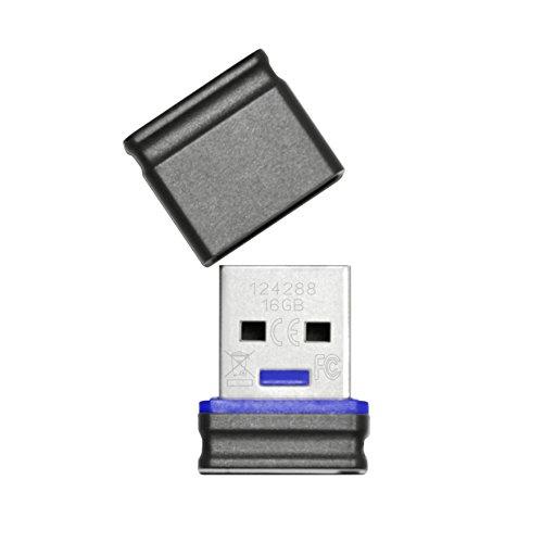 Platinum 16 GB Mini USB-Stick USB 2.0 schwarz