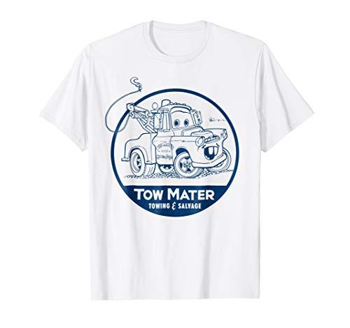 Disney Pixar Cars Tow Mater Salvage Badge Graphic T-Shirt
