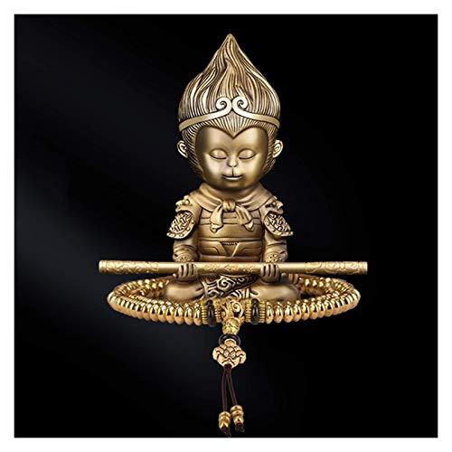 SERBHN Decoración De La Estatua De Buda Estatua De Buda Pequeño + Pulsera Latón Budista Estatuas Artesanía Ornamento Decorativo Buddha