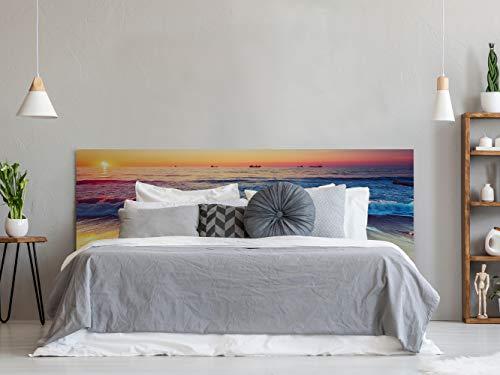Cabecero Cama Playa Olas 150x60cm | Disponible en Varias Medidas | Cabecero Ligero, Elegante, Resistente y Económico