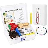 Felting Needles, Complete Needle Felting Kit, Wool Needle Felting Supplies with 8-Needle Felting Tool, 36/38/40 Gauge Felting Needles, Sewing Pins, Foam Mat, Scissors for Beginner Professional