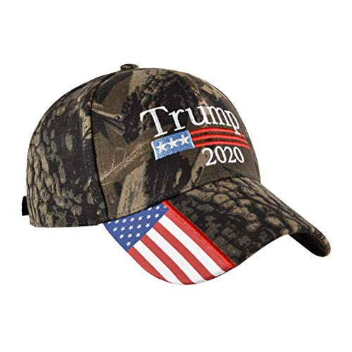 Fenical Baseballmütze Amerikanische Flagge 2020 Trump Pattern Outdoor Cap Verstellbarer Hut Baumwolle Gewaschen für Frauen Männer-Zufälliger Stil