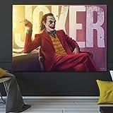 zhuziji Imprimir póster Imagen de la Pared Retrato de Payasos fumando Carteles e Impresiones sobre Lienzo y murales para la decoración Moderna de la Sala de estar40x60cm(Sin Marco)