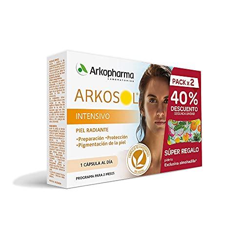 Arkpharma Arkosol Intensivo 60 Cápsulas |Bronceado desde el interior |Todo Tipo de Piel | Prepara y Protege la piel para la exposición solar | Complemento Alimenticio