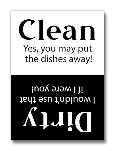 Clean Dirty Dishwasher Magnet Sign The Best Kitchen Accessory