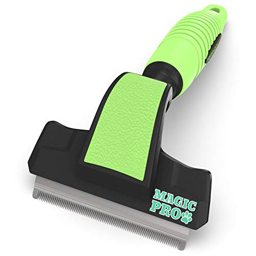 Deshedding Brush for Dogs & Cats - Dog Grooming Supplies, Shedding Blade...