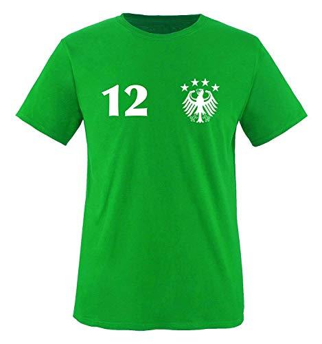 Trikot - Deutschland - 12 - Kinder T-Shirt - Grün/Weiss Gr. 110-116