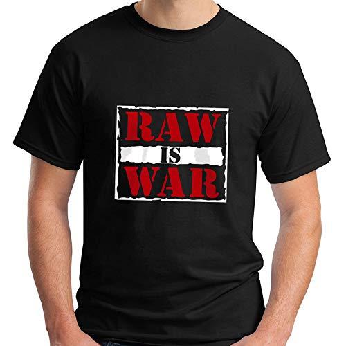 Dangs WWF Monday Night Raw Is War Classic Vintage Wrestling Men's Black T-Shirt