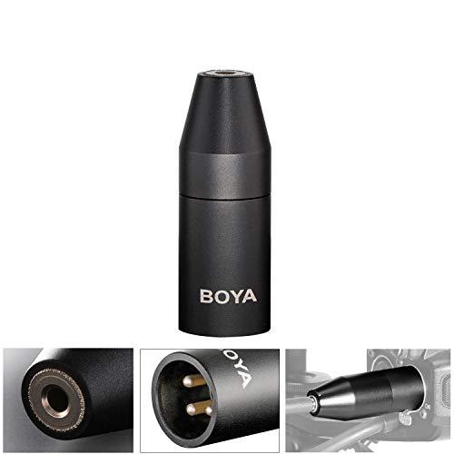 BOYA 35C-XLR 3,5 mm (TRS) Mini-Jack femmina Adattatore per microfono a connettore XLR maschio a 3 pin Compatibile con videocamere, registratori, mixer