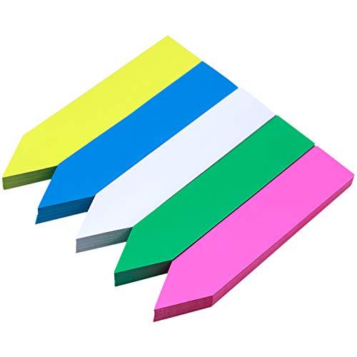 Chstarina 100 PCS 10*2cm Multicolori Etichette per Piante,I Tag Marcatori di Piante Etichette Vegetali PVC Impermeabile Etichetta da Giardinaggio per da Giardino, Herb,Semi di Erbe,Vaso,Fiori ,Piante