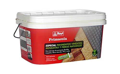 Rayt 1273-23 Primacola C-20 Rodillo. Adhesivo acrílico Especial para pavimentos Flexibles: PVC, moquetas, revestimientos Textiles, Vinilo y Fibras Naturales. SIN disolventes, 5kg