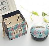Caja Cajas de Regalo del Color: Azul de la Mariposa + Bolsa de Asas, romántico día de San Valentín Dulces Cuadro Monotónica círculo Caramelo Caja joyero de Aves de Asas del Regalo del Partido Festivo