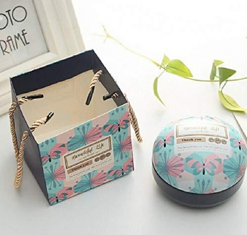 Artículos de Vacaciones MMGZ romántico día de San Valentín la Caja del Caramelo Redondo Plano de Caramelo Caja de joyería de Regalo Suministros Parte Festiva Bird Box Asas Home Garden, Color: Azul de