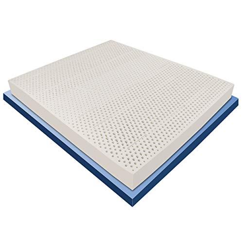 Baldiflex Materasso Lattice Matrimoniale 160x190 cm Alto 20 cm con 7 Zone a Portanza Differenziata e Fodera 3D Air in Aloe Vera Sfoderabile Antiacaro e Traspirante