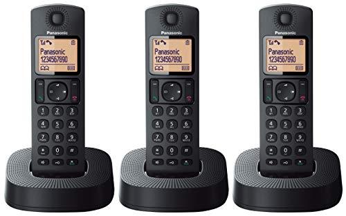 Oferta de Panasonic KX-TGC313 - Teléfono Fijo Inalámbrico Trio (LCD, Identificador de Llamadas, 16 H Uso Continuo, Localizador, Agenda de 50 números, Bloqueo Llamada, Modo ECO, Reducción Ruido) Negro