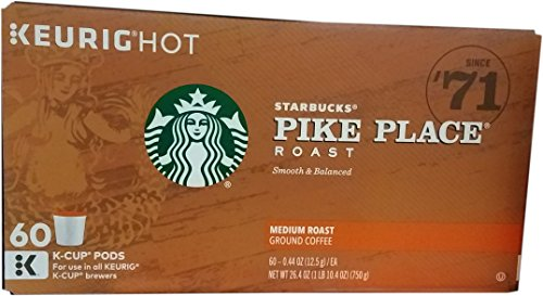 Starbucks Coffee K-Cup Pods, Pike Place, 10 CT