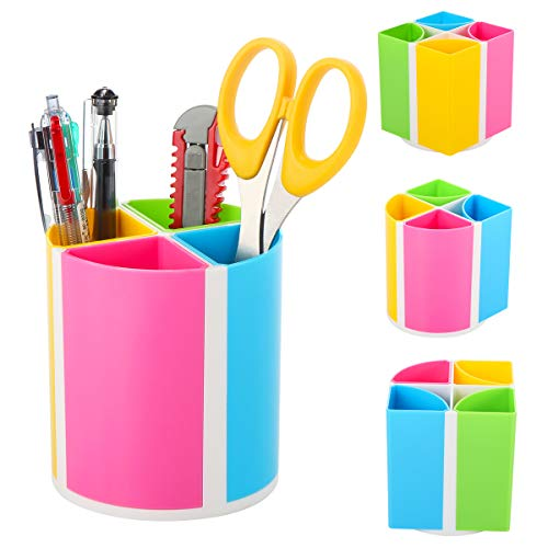URbantin Pens Holder Pencil Cup Holders for Kids Desk Accessories, Office School Home Supplies Desktop Organizer Holder, Colorful Dispenser Cup Holders