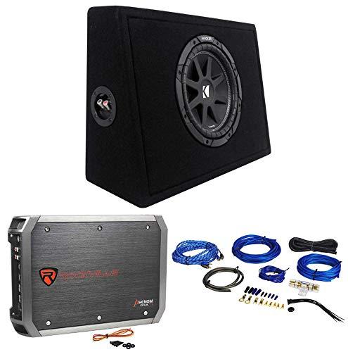 "KICKER 43TC104 Comp 10"" Subwoofer In Sub Box Enclosure+2-Ch. Amplifier+Amp Kit"