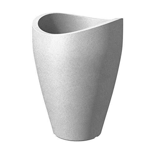Pflanzgefäß Wave Globe high, Stony Grey, Kunststoff D 39 x H 54 cm