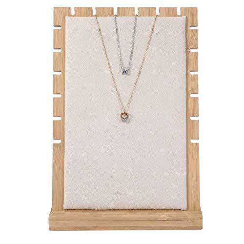 Espositore per collana / bracciale / ciondolo, dispositivo per la conservazione dei gioielli, struttura in legno con display per collana, organizer per gioielli da donna (3 #)