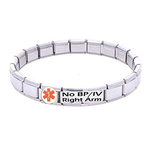 Daisy Charm No BP/IV Right Arm Medical ID Alert Bracelet.