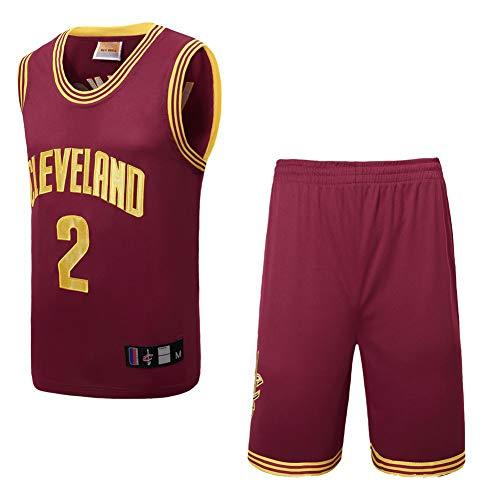 Uniformes de Baloncesto para Hombres y Mujeres, Trajes de Uniforme de Baloncesto Cavaliers Irving, Camisetas Bordadas de Alta Densidad,-Red-S