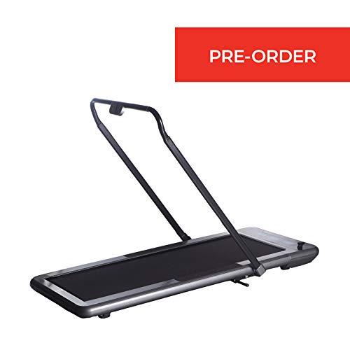 WalkSlim Cinta de Andar Plegable y motorizada 470 - Cinta de Andar para Oficina - Pantalla LED, Contador de calorías, Control Remoto, Plegable & Compacto (Negro)