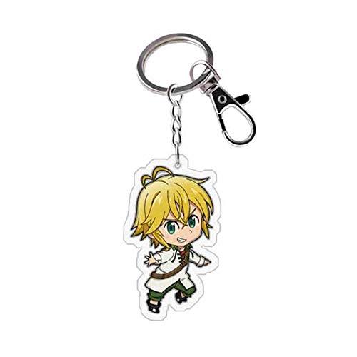 ALTcompluser Anime The Seven Deadly Sins Karabiner Schlüsselanhänger Doppelseitig Schlüsselbund Schlüsselring Acryl Anhänger, Dekoration für Tasche/ Rucksack / Mäppchen( Meliodas)