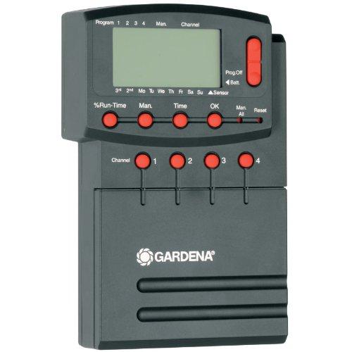 Programmateur 4040 Modulable de Gardena : Programmateur d'Arrosage Réglable Individuellement pour Commander jusqu'à 4 Vannes, 12 V (1276-20)