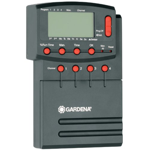 Gardena Comfort Bewässerungssteuerung 4040 modular: Individuell anpassbarer Bewässerungscomputer zur Steuerung von bis zu 4 Ventilen, 12 V (1276-20)