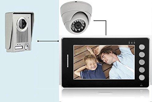 Videocitofono 7' colori FOTO + Dome Telecamera ultra sottile memoria (437)